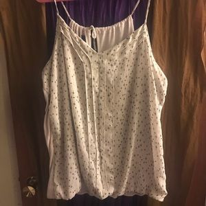 Maurice's Strappy Top - Cream/Blk/Silver Sz. 3
